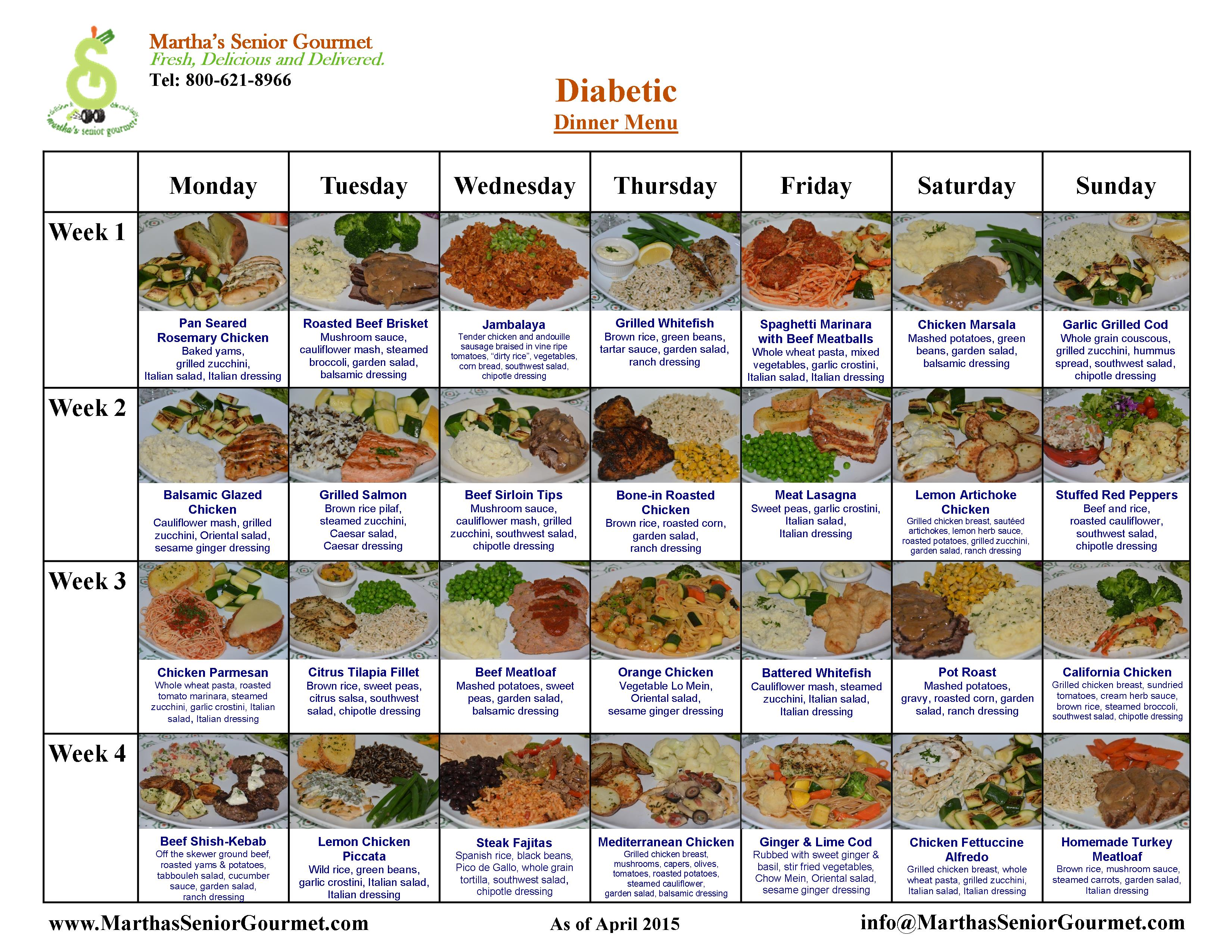 Menu plan for diabetes / Men day program