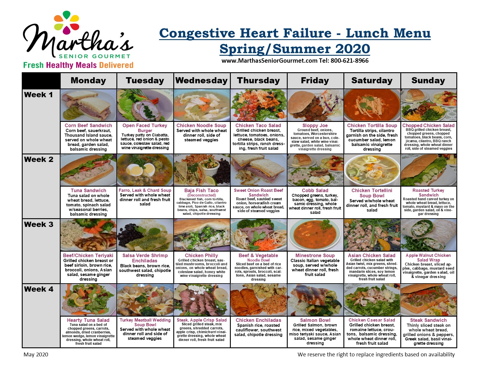 heart healthy diet for chf